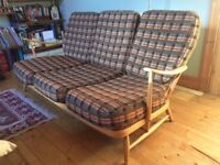 Ercol Mid Century 3 Seater Windsor Sofa