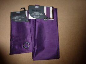 Plum/purple curtains (BRAND NEW)