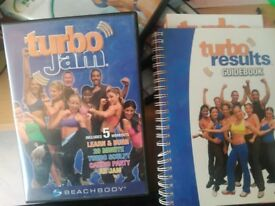 Turbo Jam (boxercise / kickboxing) CD and Guidebook