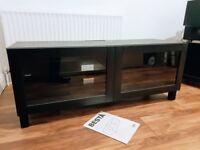 TV Cabinet with glass panel doors
