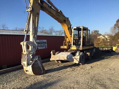 1993 Caterpillar 214bft Mobile Hydraulic Excavator W Cab