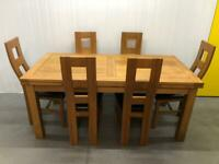 Oak Furniture Land Solid Oak Dining Table Only Delivery Available 🚚