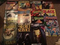 15 assorted comics