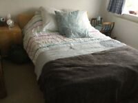 IKEA Malm Kingsize Bed and mattress with memory foam topper