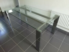 NEXT Glass-top Dining Table (must sell)