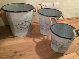 Trio of Flower pots new & unused