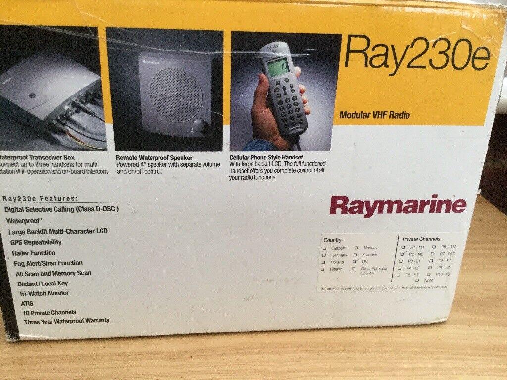 Raymarine Ray230e modular VHF radio