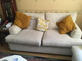 One 2 seater sofa.