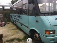 Mercedes 814 midi coach for spares, repairs or possible camper van conversion.