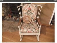 Lovely vintage elm rocking chair