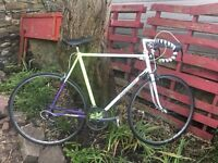Vintage Raleigh racing bike 12 speed 24 inch frame 27 inch wheels
