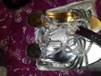 Brand new sliver sandals size 5 with tags