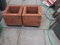 heavy duty wooden garden planters