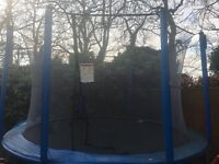 12 foot trampoline for sale..some signs of wear but usable...retail price £200