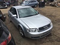 AUDI A4 T SPORT SILVER 1.8 PETROL (03) breaking for parts