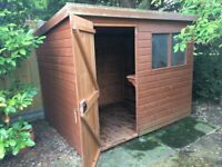 Hospitable 8x6 Shiplap Apex Workshop Shed Garden Store Double Doors Fsc Sourced 8ft 6ft Home & Garden