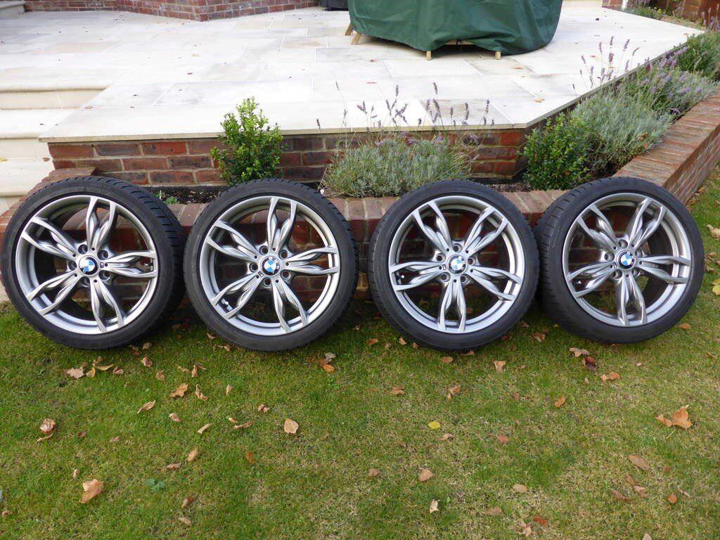"Genuine BMW 18"" 436M Alloy Wheels & Tyres - fit M140i M240i M135i M235i"