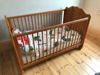 Wooden cot from Mamas & Papas