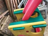 Little tykes climbing frame with slide