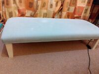 Pale blue large footstool for sale