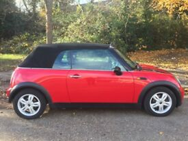 MINI ONE CONVERTIBLE - 2008 - DEEP RED - PX