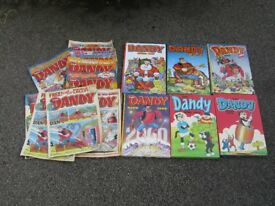 'Dandy' 6 x Annuals and 12 Comics