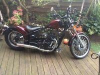 ajs bobber 125cc custom 125 motorbike