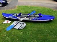 Sevylor Hudson 3 Person Inflatable Canoe / Kayak