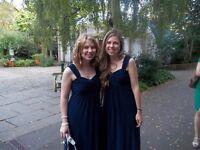 Planet Deep Blue Full Length Bridesmaid Dress Size 8