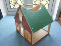 Wooden Doll's House and Furniture Toys Games Bed Table Chair