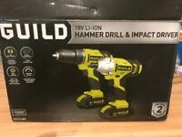 Hammer drill and impact driver brand new