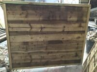 Waneylap fence panels 10mm boards pressure treated green