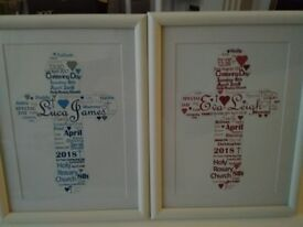 Personalised picture and frame gift. Made to order.