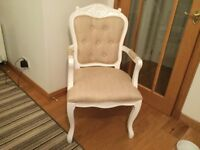 White Bedroom Chair