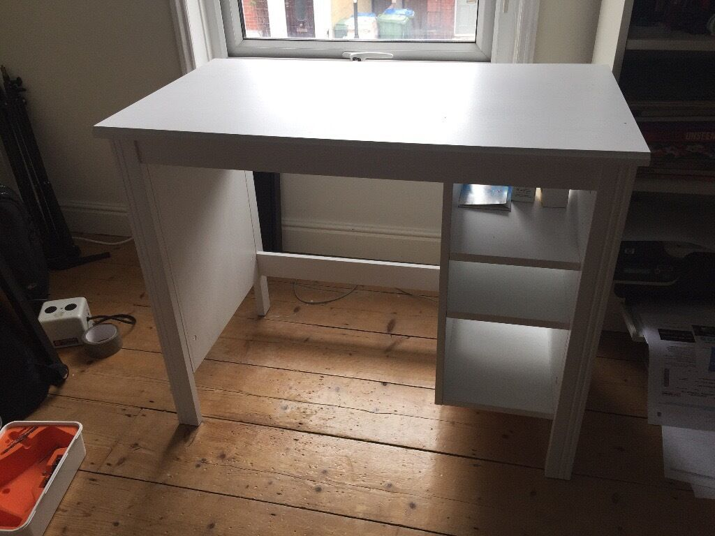 Brusali White Ikea Desk 90x52 Cm 1 Month Old Like New