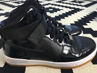 Nike Air Force 1 Black High Top Trainers Size 5 WORN TWICE