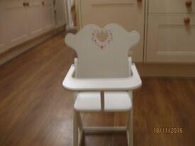 A dolls highchair