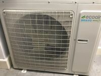 ECOAIR (Coolant+Heater) Wall Mounted Air Condition with Bravo Inverter- 24000 BTU + wall mount stand