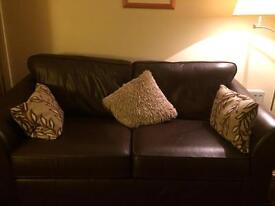 Marks and Spencer Abbey Leather Sofa.