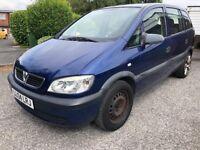 2004 Vauxhall Zafira Life Automatic 7 seater Cheap mpv