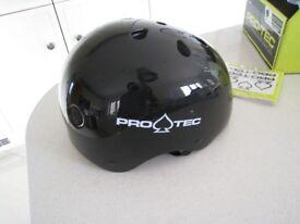 Pro-Tec Multisport Helmet Skateboard Scooter Large 58-60cms Black Gloss