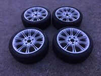 225/40ZR18 Wheels + New Tyres (18 inch) 8j front and 8.5 rear 5x120 (225 40 18)