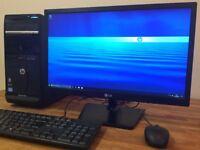 "***FULL SET HP P6 - i5 - 8GB - 1.5TB - WiFi - Windows 10 + 22"" FULL HD Monitor Desktop PC Computer"