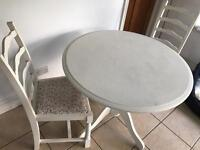 Table and 4 chairs Shabby Chic