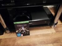 Xbox one console 1 tb & Shadow of war digital download game . great condition