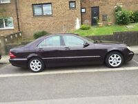 2001 MERCEDES BENZ S CLASS 320 SALON AUTOMATIC IN VERY GOOD CONDITION , MOT EXP: 09/2016