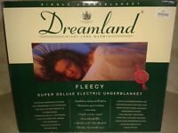 New, Still in Box - DreamLand Fleecy Super Deluxe Single Electric Under Blanket