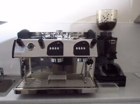 Expobar Markus Coffee Machine 2 group with grinder and water filter.