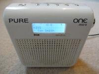 Pure One Mini - FM DAB Digital Radio - Mains or Portable
