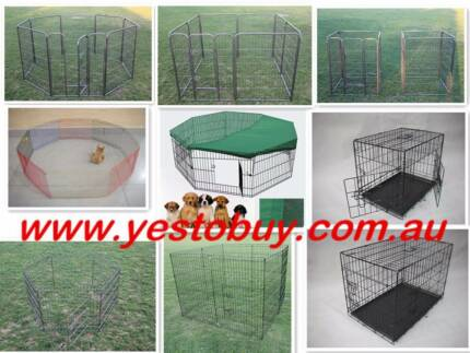 Pet Dog Bunny Cat Puppy Rabbit Cage Crate Playpen Enclosure Fence